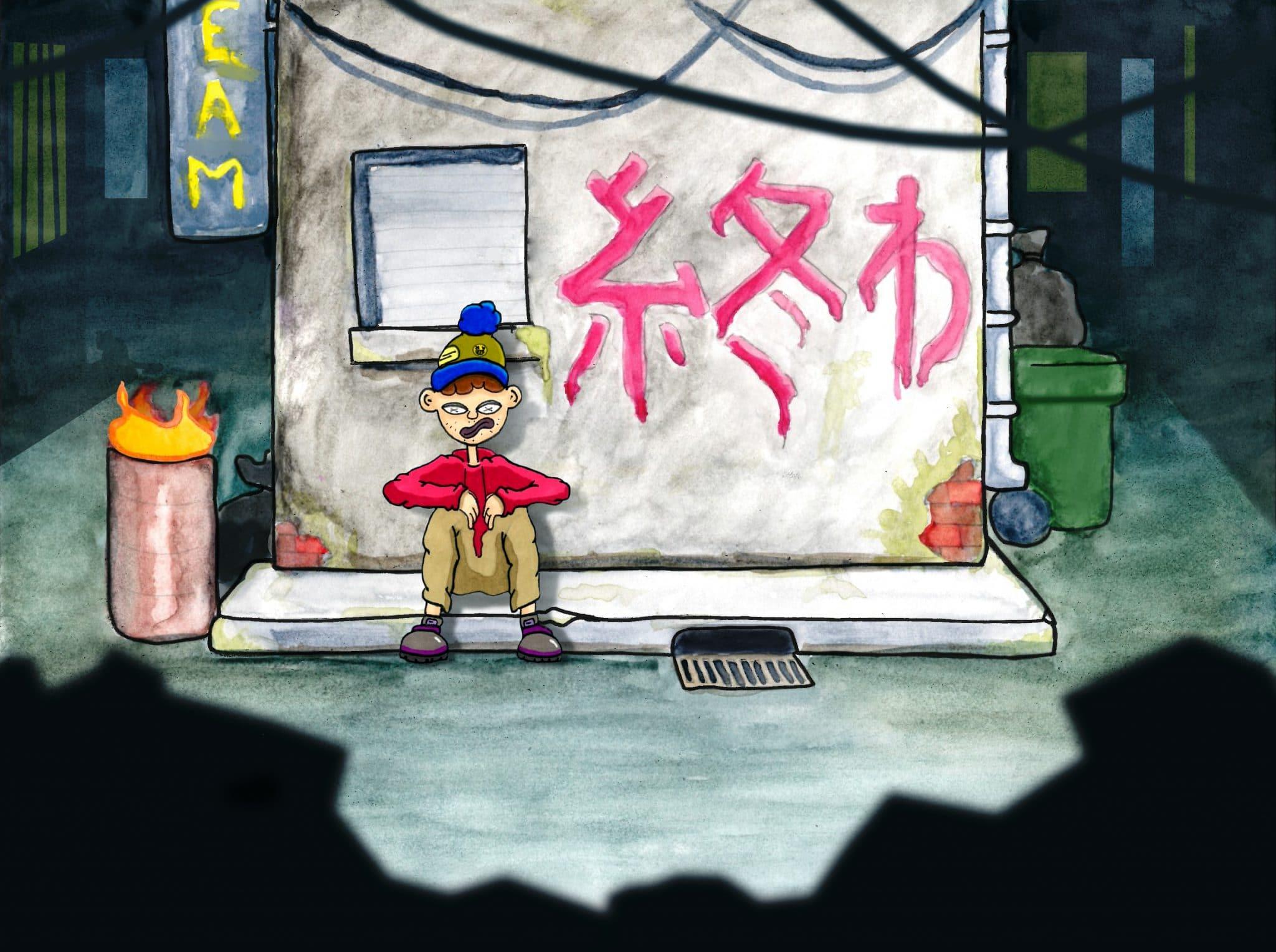 décor japon animation Billy boy_ Francescu-Maria Lucchini_