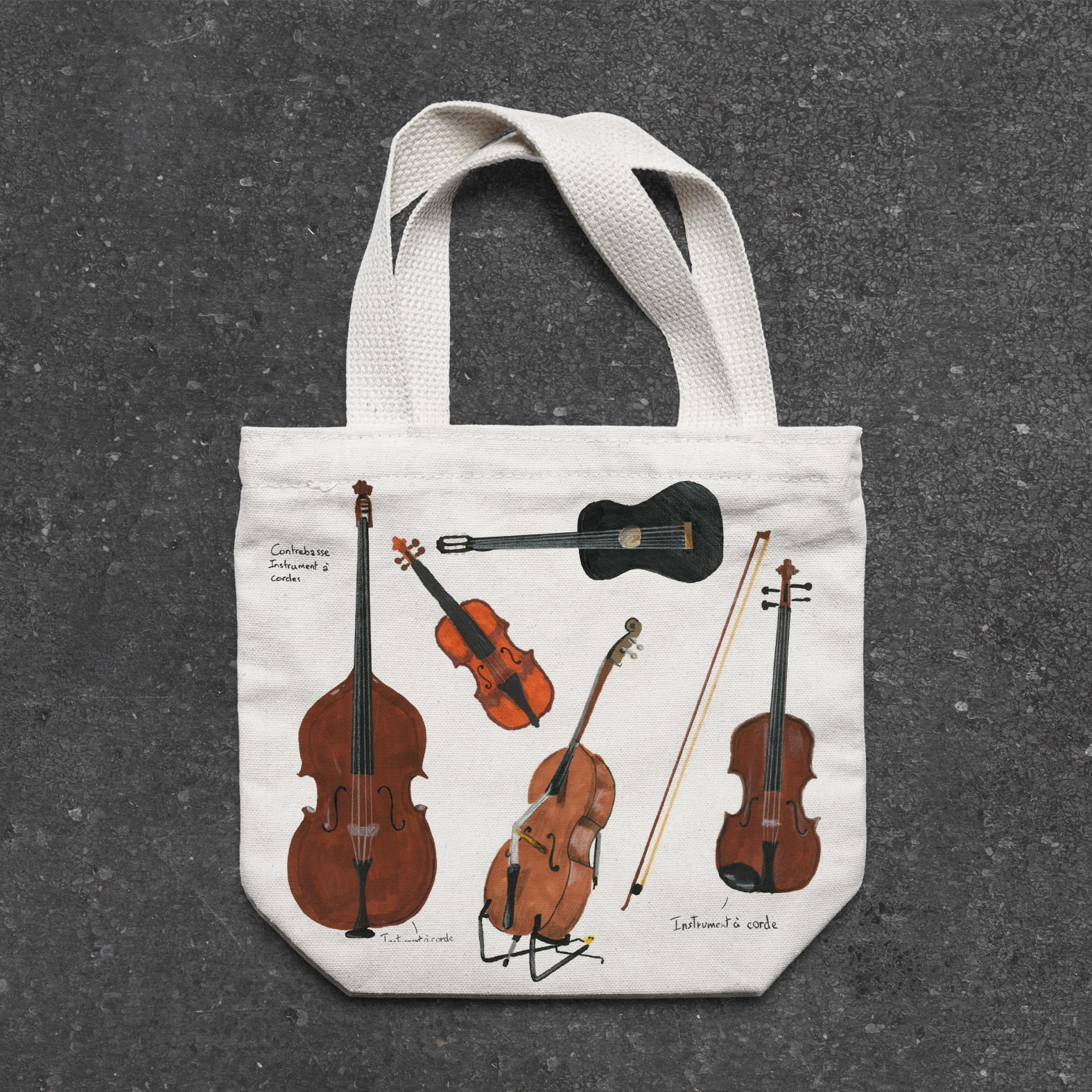 violons cordes supdesign bag